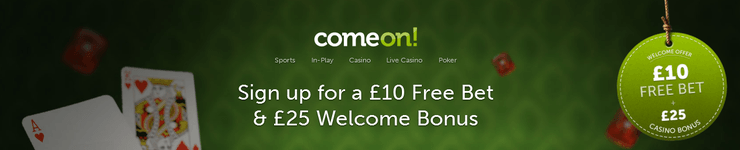 comeon freebet and welcome bonuses image