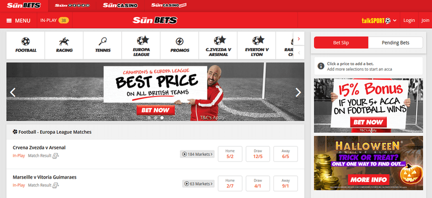 Sun Bets free bet and promo code