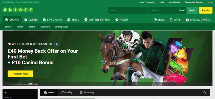 Unibet Sign Up Bonuses
