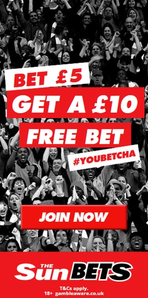 Sun Bets bookmaker & casino offer image