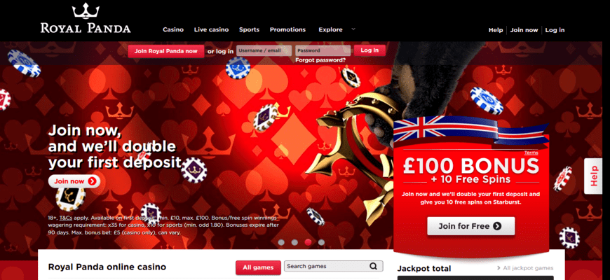 royal panda sportsbook and casino welcome bonus