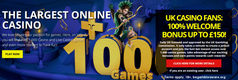 Jetbull casino welcome bonus