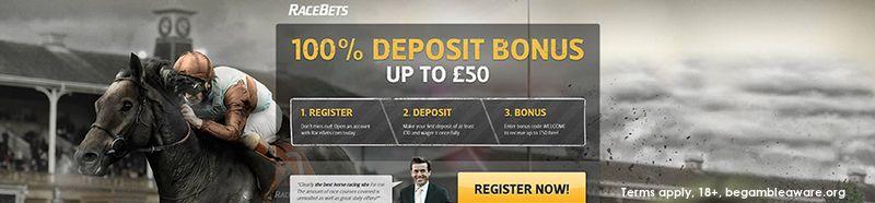 RaceBets 50 welcome bonus