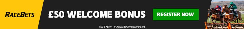Racebets 50 free bet sign-up bonus