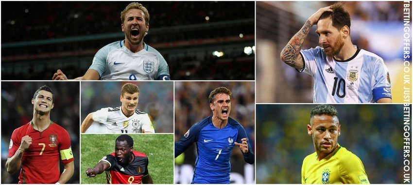 world cup 2018 top goalscorer betting - candidates and their odds