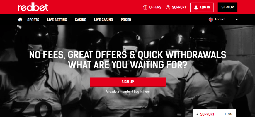 RedBet Sign Up Bonuses