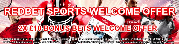 redbet sports welcome bonus