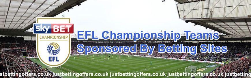 betting sites sponsoring EFL clubs