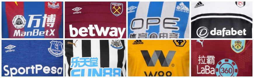 premier league clubs gambling sponsors